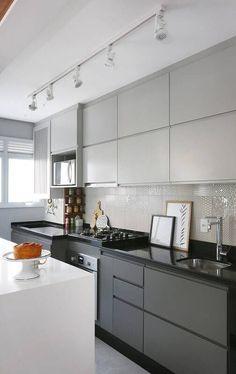 apto 43 cozinha armários cinza