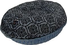 BESSIE AND BARNIE 42Inch Bagel Bed for Pets Large Blue SkyVersailles Blue * Details can be found by clicking on the image.