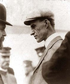 Wilbur Wright after flight. It was taken in 1909.