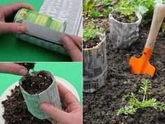 No need to transfer your plants into the garden with the newspaper pots. Just plant the pot and all and let the paper go back into the garden (holding moisture with it!). Lazy Liz LOVES this.