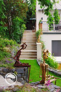 Sochy z dreva Garden Art, Patio, Sculpture, Outdoor Decor, Garden Stairs, Landscape Architecture, Design, Home Decor, Atelier