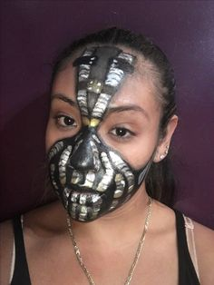 Bane mask made using the makeup for ever flash palette for comic con