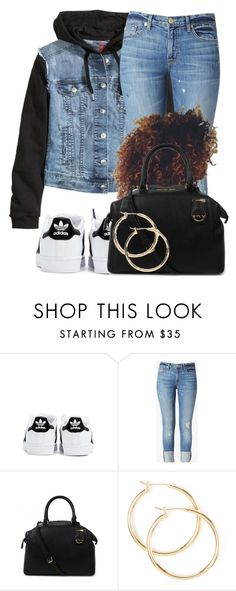"""""""Untitled #189"""" by jaziscomplex ❤ liked on Polyvore featuring H&M, adidas, Hudson Jeans and Michael Kors"""