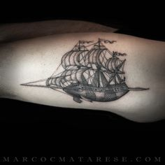 Boat sperm whale cachalot tattoo Marco C. Matarese