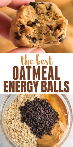 Yummy Snacks, Delicious Dinner Recipes, Healthy Snacks, Snack Recipes, Cooking Recipes, Yummy Food, Breakfast Recipes, Dessert Recipes, Oatmeal Energy Balls Recipe