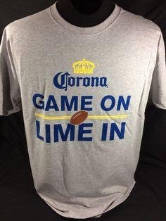 Corona Extra Beer T-Shirt Size XL Gray