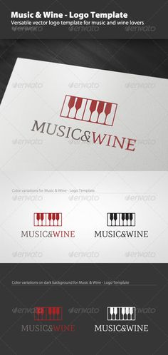 Music and Wine - Logo Template