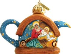 G. Debrekht Nativity Teapot Ornament, 4.5-Inch
