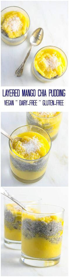 This Layered Mango Chia Pudding is not only delicious but also super healthy and takes 10 minutes to make! #SilkUnsweetened #vegan #glutenfree #dairyfree #ad www.laurenkellynutrition.com Easy Meals For Kids, Fun Easy Recipes, Good Healthy Recipes, Best Dessert Recipes, Dairy Free Recipes, Whole Food Recipes, Vegan Recipes, Skinny Recipes, Cream Recipes