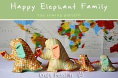 Happy Elephant Family Pattern from Craft Passion