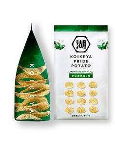 Chip Packaging, Packaging Snack, Packaging Design, Packaging Ideas, Japanese Snacks, Japanese Food, Japanese Potato, Japan Package, Potato Crisps