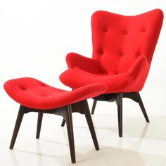 Grant Featherston Style Auzzie Lounge Chair and Ottoman – Poly + Bark
