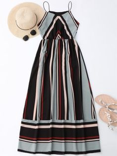 SHARE & Get it FREE | Maxi Holiday Sundress With Stripes - Light Blue SFor Fashion Lovers only:80,000+ Items • New Arrivals Daily Join Zaful: Get YOUR $50 NOW!