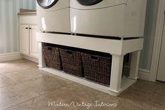 Washer/dryer stand tutorial