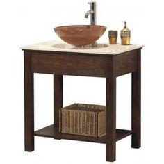 Kyoto Open Sink Cabinet with Flush Top - Bathroom Vanities - Bath   HomeDecorators.com