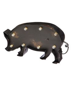 Big Pig LED Tabletop Décor #zulilyfinds