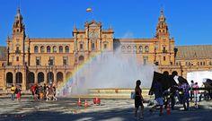 Turismo virtual por Andalucía: La mesa de trabajo del Joven Velázquez: Plaza de España - Time Lapse 1