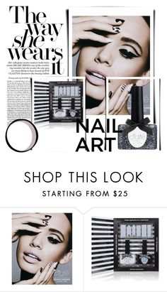 """""""THE WAY SHE WEARS IT, IS ....DARK"""" by greenacres1124 ❤ liked on Polyvore featuring Ciaté and nailart"""