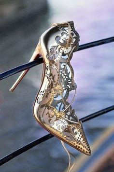 Cinderella Shoe Couture Laser Cut Pump