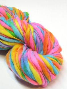 100 yards handspun super bulky yarn handspun in by TheGingkoLeaf, $30.00