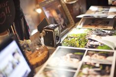 Bridal Show Booth Concept- use vintage cameras