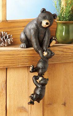 Bear Family Shelf Sitter Woodland Decoration
