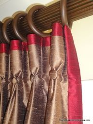 pinch pleat drapes with contrast banding - Google Search