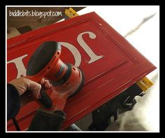 Biddle Bits: Holiday decor using a recycled cabinet door