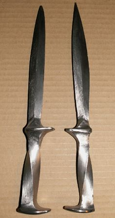 Railroad spike knives