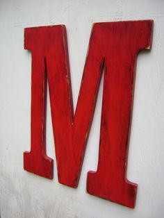 letter M wedding decor shabby chic rustic 24 by UncleJohnsCabin