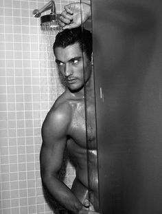 David Gandy...nooo theres no towels..i have to do laundry...just air dry..i don't mind