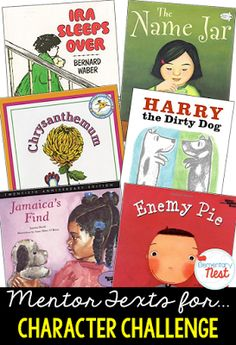 Second Grade Nest Primary mentor text suggested book list for character challenge and response- identify the way that characters can change… 4th Grade Reading, Kindergarten Reading, Teaching Reading, Guided Reading, Teaching Ideas, Teaching Outfits, Student Teaching, Teaching Character, Character Education