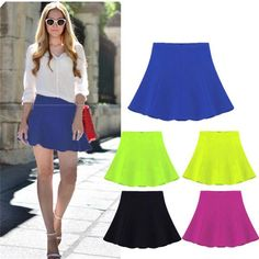 2015 Summer Brand New Fashion Chiffon Ruffles Skirt Geometric Pattern Puff Mini Skirt Candy Color Plus Size Women Clothing Online with $29.35/Piece on Blackfriday's Store   DHgate.com
