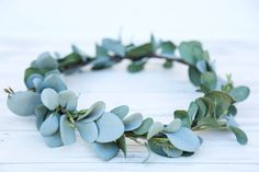 Sage Green flower crown headband eucalyptus by FlowersLovers