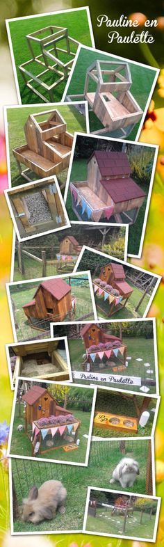 The making of my own bunny house for my two bunnies Pauline and Paulette.