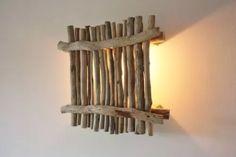 parete lampada diy legni