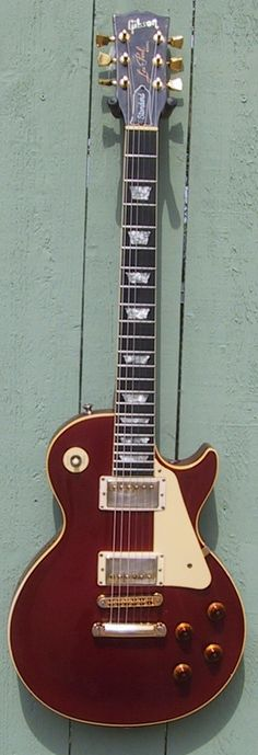 1982 Gibson Les Paul Standard Candy Apple Red with crank tuners and Tim Shaw humbuckers.