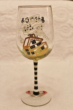 Reverse side of wine glass - SHOES TO DIE FOR, the Wizard of Oz