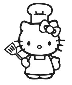 Hello Kitty Chef Sticker Decal Vinyl for Computer by SenPro