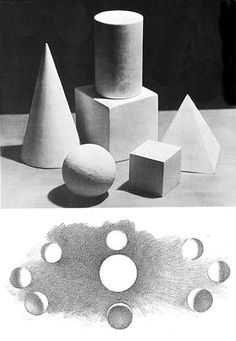 FORM OR VOLUME- A shape that is realized in three dimensions is called a form or a volume.