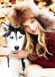 Princess and husky, Russian beauty, Russian girl, winter Elsa Hosk, Russian Beauty, Russian Fashion, Wolves And Women, Amor Animal, Shooting Photo, Dog Pictures, Dog Mom, Animal Photography