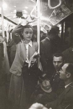 New York City Subway, 1946. Photo by Stanley Kubrick. The subway-riding experience hasn't changed at all except for the outfits.