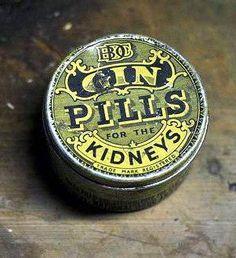 Gin Pills tin box