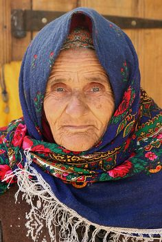 Old woman in Lahic (Azerbaijan).    Lahic is a small village in the Ismailly Rayon, buried deep in the southern slopes of the Greater Caucasus mountains.