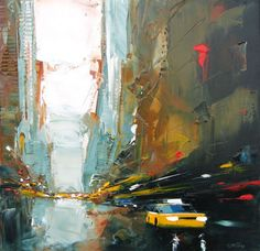 painting from the NY series by french painter Daniel Castan