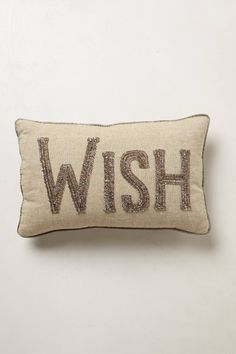 Shimmered Sentiments Wish Cushion - anthropologie.eu Cosy Christmas 21ef15f9d