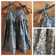 Boho Batik Sundress, girls size 6 by SewMeems on Etsy