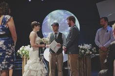Our Planet Our Universe event wedding ceremony at the Orlando Science Center