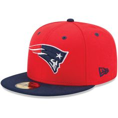 New Era New England Patriots Two-Tone 59FIFTY Fitted Hat - Red/Navy Blue