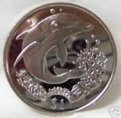 BVI Dolphin with Coral 2004  Copper-nickel Coin Unc $22.99